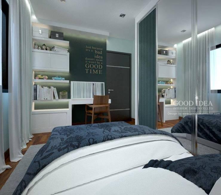 เปลียนห้องให้ดูนุ่มนวล ไอเดียร์ง่ายๆแต่ได้ผล:   by GOOD IDEA INTERIOR CO.,LTD.