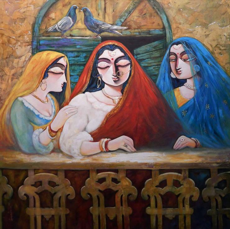 Tin Kanya II:  Artwork by Indian Art Ideas
