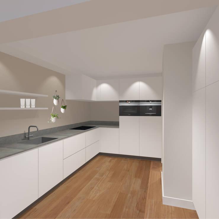 3d impressie 5 keuken:  Keuken door Anne-Carien Interieurarchitect