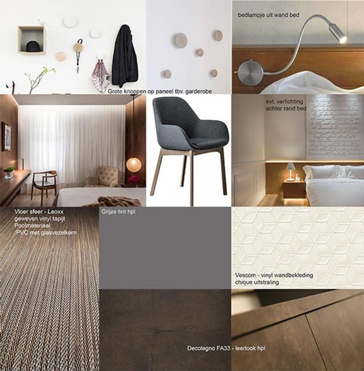 Sfeerbeeld hotelkamer: modern  door Anne-Carien Interieurarchitect, Modern