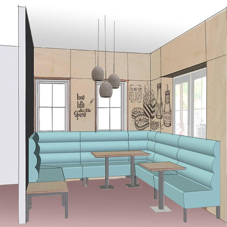 Schets 3d ontwerp snackbar:   door Anne-Carien Interieurarchitect