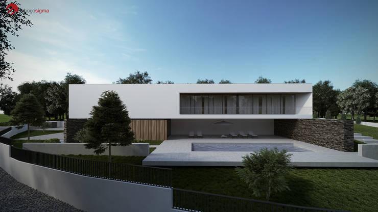 Moradia unifamiliar - Tipologia T4: Casas  por EsboçoSigma, Lda