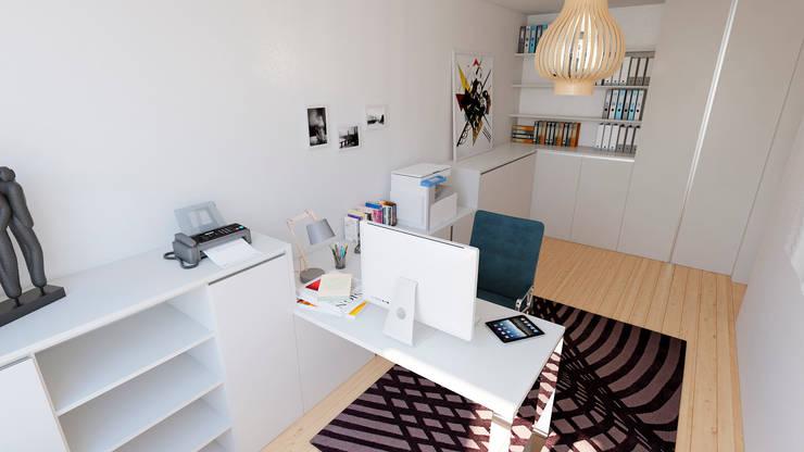 書房/辦公室 by EsboçoSigma, Lda
