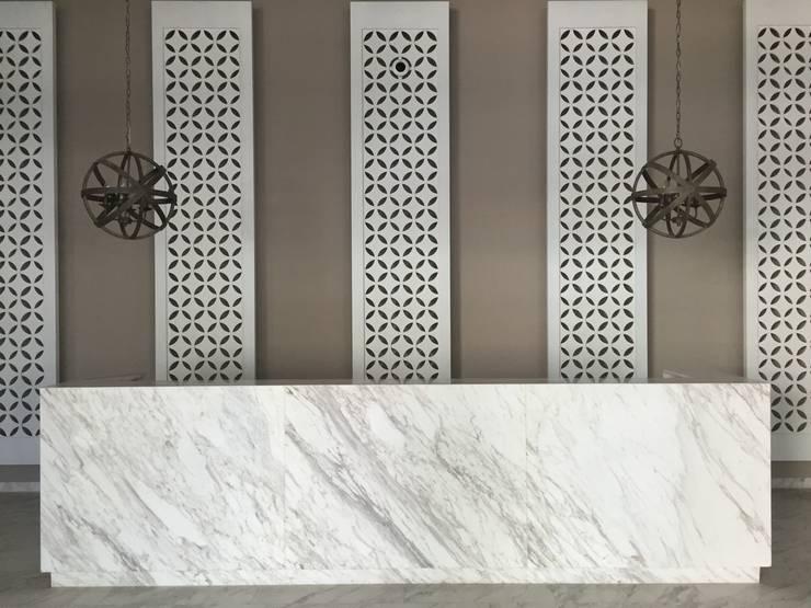 Recepcion: Pasillos y vestíbulos de estilo  por Ecologik, Moderno Mármol
