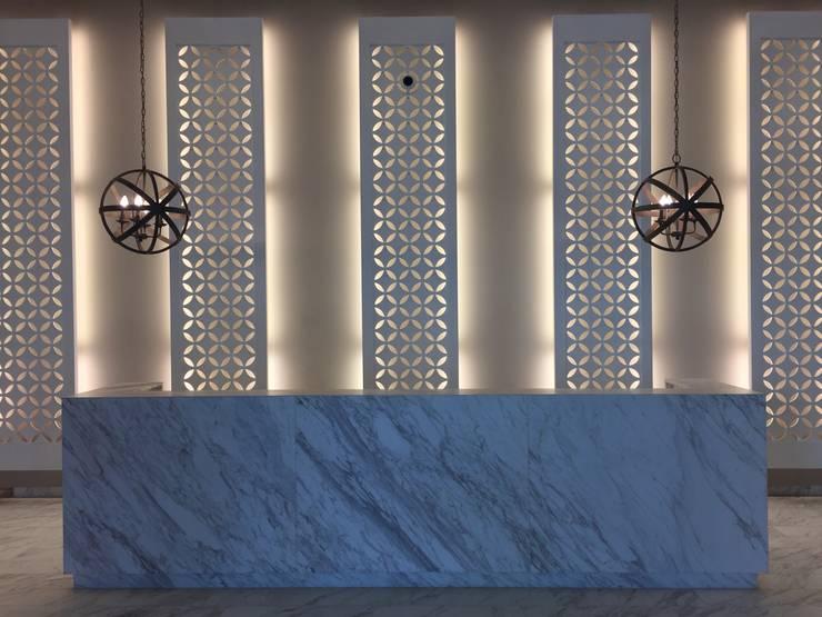 Recpecion iluminada: Pasillos y vestíbulos de estilo  por Ecologik, Moderno