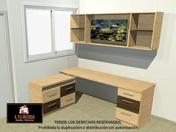 Vista 3d Centro de entretenimiento:  de estilo  por A TU MEDIDA muebles modulares