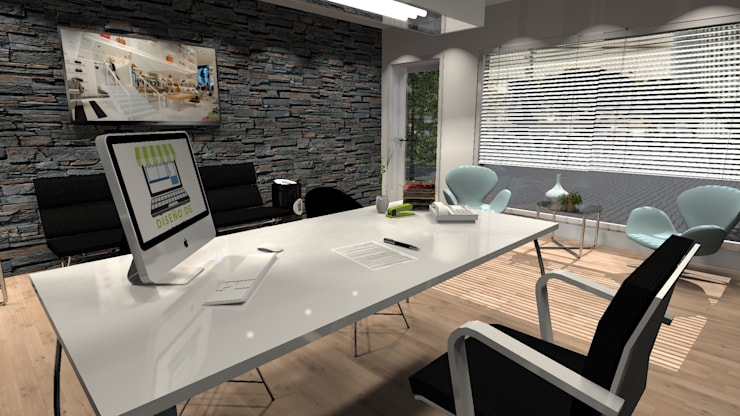 Diseño de Oficina general: Oficinas y Tiendas de estilo  por Diseño de Locales,