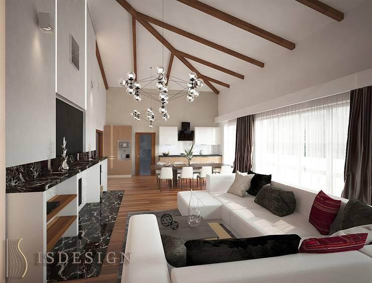 Гостиная - зона отдыха: Гостиная в . Автор – ISDesign group s.r.o., Эклектичный