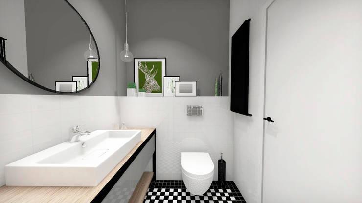 Łazienka z mozaiką WINCKELMANS: styl , w kategorii  zaprojektowany przez PROJEKTY WNĘTRZ Laura Kozak