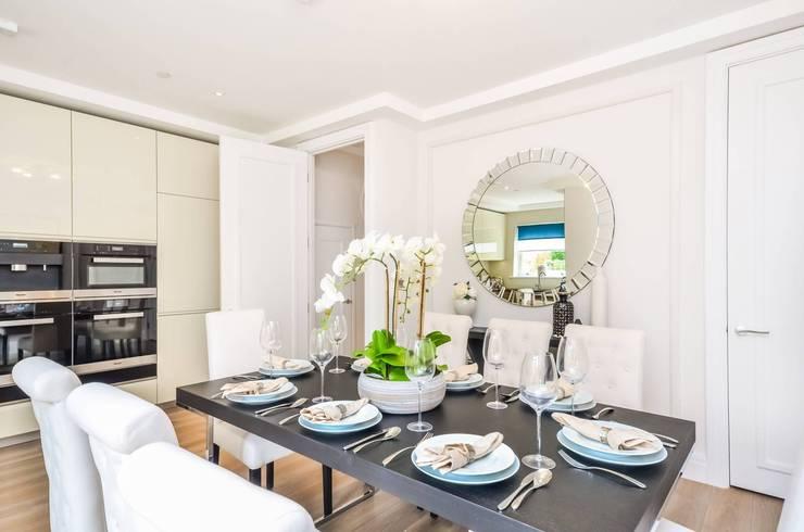 Sulivan Road, Hurlingham, SW6:  Dining room by APT Renovation Ltd