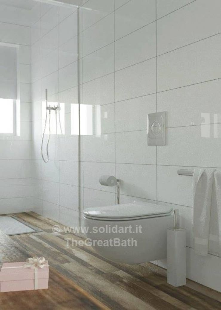 modern Bathroom by SolidART Digital Architecture