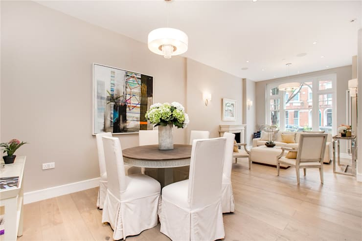 Perrymead Street, SW6:  Dining room by APT Renovation Ltd