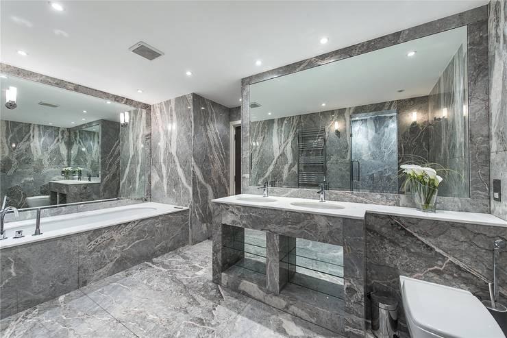 The Icon, Grosvenor Road, London, SW1V: modern Bathroom by APT Renovation Ltd