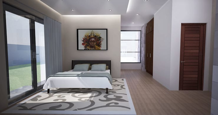 Bedroom Modern style bedroom by A4AC Architects Modern Bricks