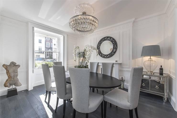 Victoria Square, London SW1W:  Dining room by APT Renovation Ltd