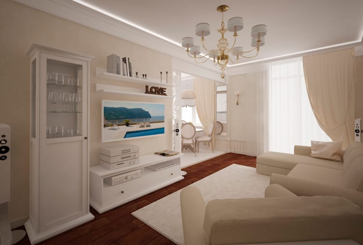 Трех-комнатная квартира в сталинке:  в . Автор – dessein