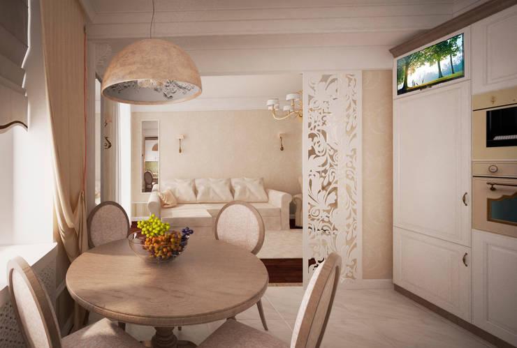Трех-комнатная квартира в сталинке: Кухни в . Автор – dessein