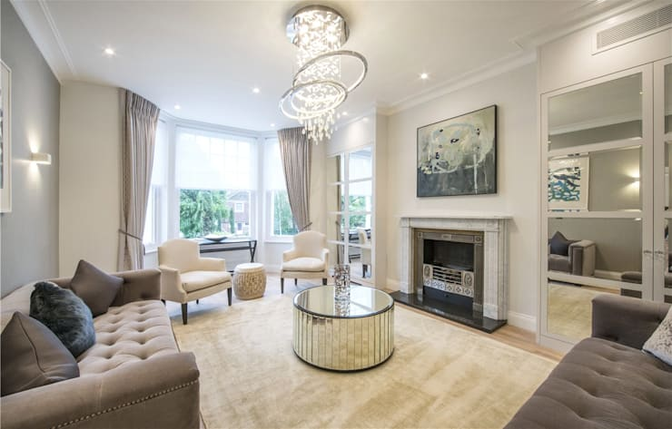 Wellington St Johns Wood NW1: modern Living room by APT Renovation Ltd