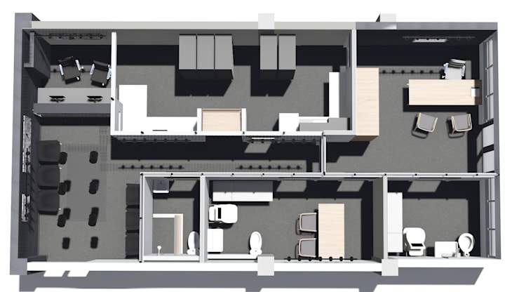 Hospitales de estilo  por Black Canvas Architectural Interiors , Moderno