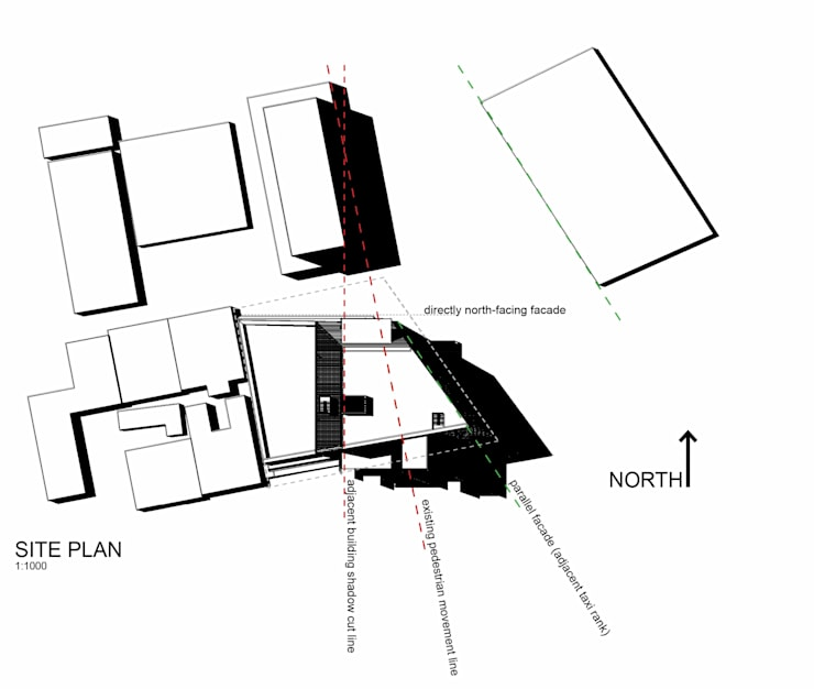 Site plan:   by A4AC Architects