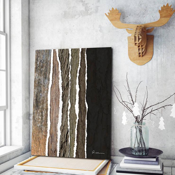 모던 나무 사진 - 인테리어 그림 / 액자 : 주식회사 모모스케치의  상업 공간