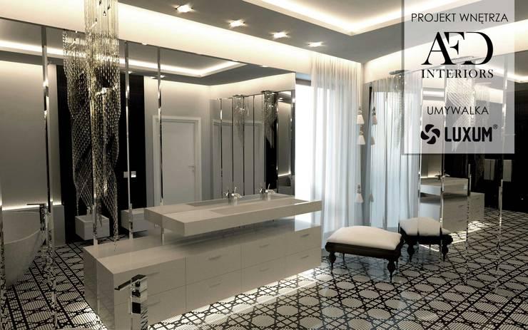 łazienka W Stylu Glamour Z Umywalką Na Wymiar By Luxum Homify