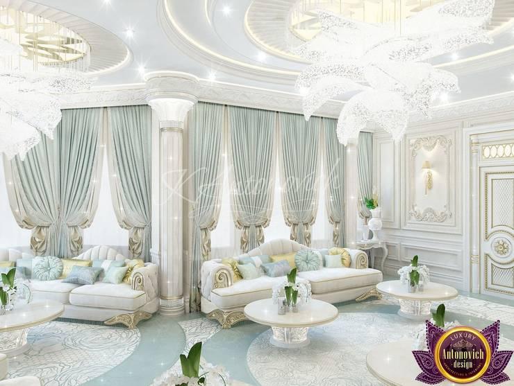   Majlis interior design ideas by Katrina Antonovich:  Living room by Luxury Antonovich Design