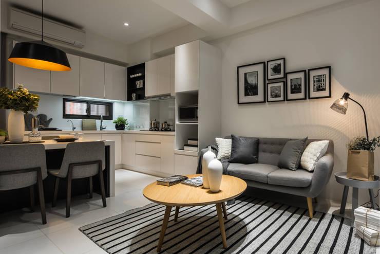 客廳:  廚房 by 存果空間設計有限公司