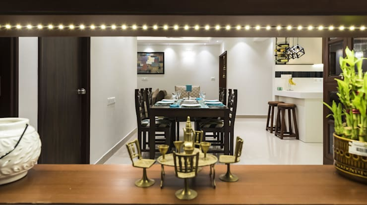 modern Dining room by Nandita Manwani