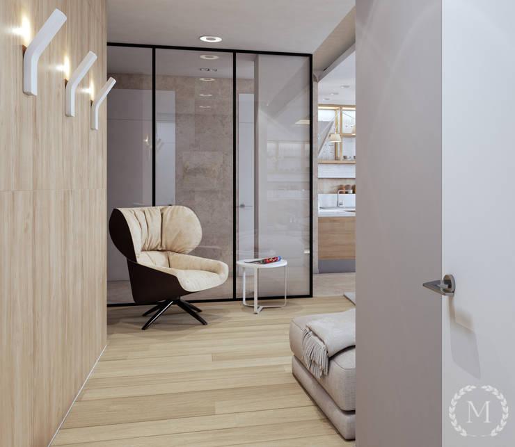 Salas de estilo industrial de 'Студия дизайна Марины Кутеповой' Industrial Madera Acabado en madera