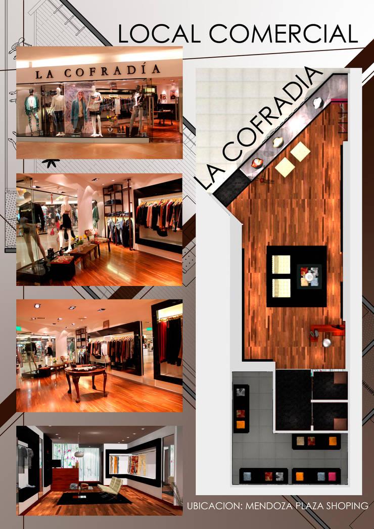 Lamina de proyecto: Oficinas y locales comerciales de estilo  por Hornero Arquitectura y Diseño