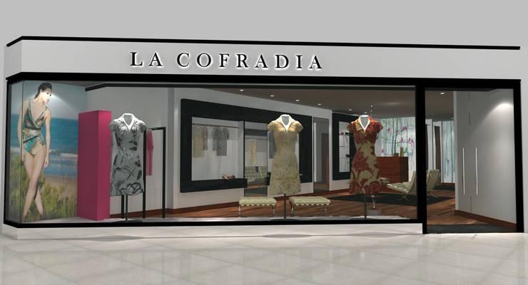 Idea proyecto local comercial: Oficinas y locales comerciales de estilo  por Hornero Arquitectura y Diseño