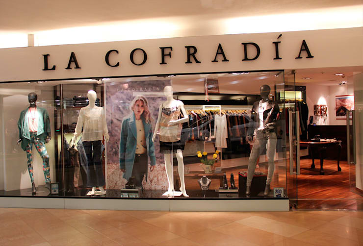 Ideas para frente de local comercial!!!: Oficinas y locales comerciales de estilo  por Hornero Arquitectura y Diseño