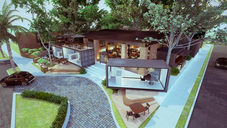 Vista Aérea: Restaurantes de estilo  por EnTRE+