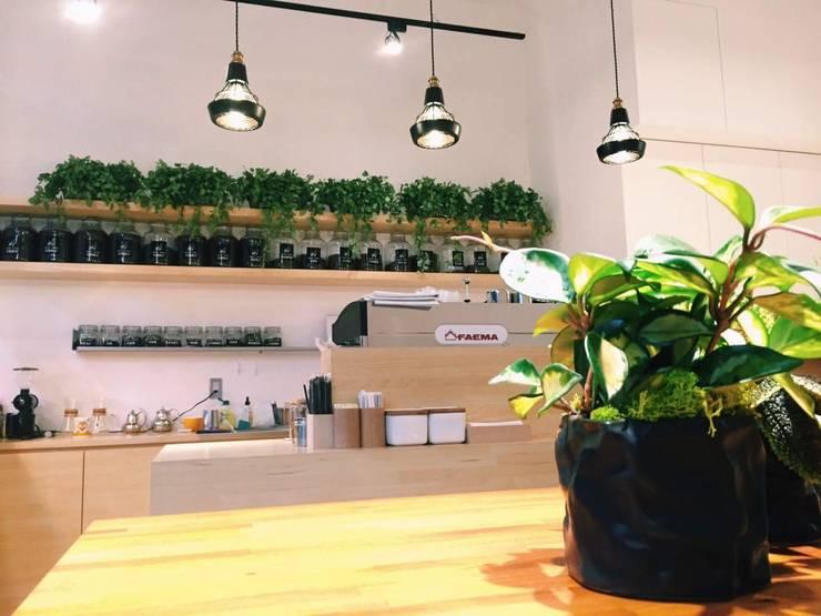 諾馬連鎖咖啡廳 信義店:  廚房 by 捷士空間設計(省錢裝潢)