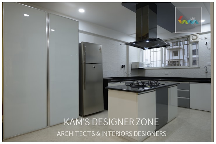 Flat Interior Design for PINKY AGARWAL: modern Kitchen by KAM'S DESIGNER ZONE