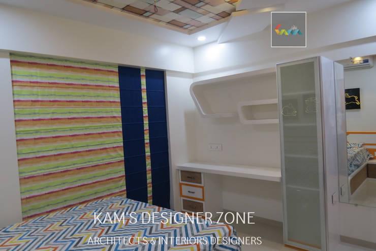 Home Interior Design for PREETI AGARWAL: modern Bedroom by KAM'S DESIGNER ZONE