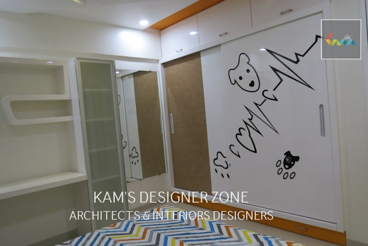 Home Interior Design for PREETI AGARWAL:  Nursery/kid's room by KAM'S DESIGNER ZONE,Modern