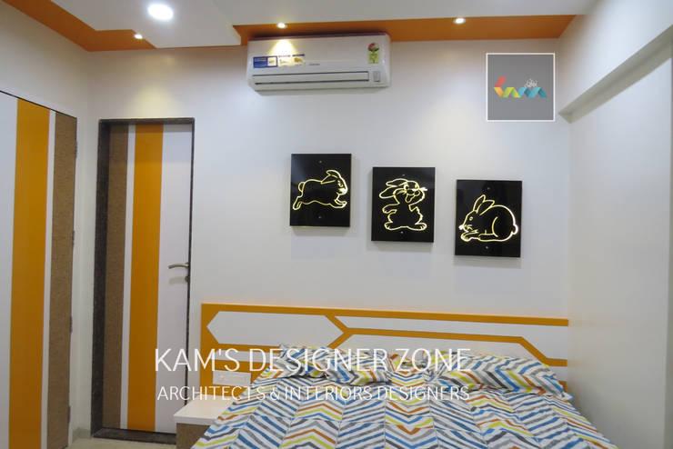 Home Interior Design for PREETI AGARWAL:  Bedroom by KAM'S DESIGNER ZONE,Modern