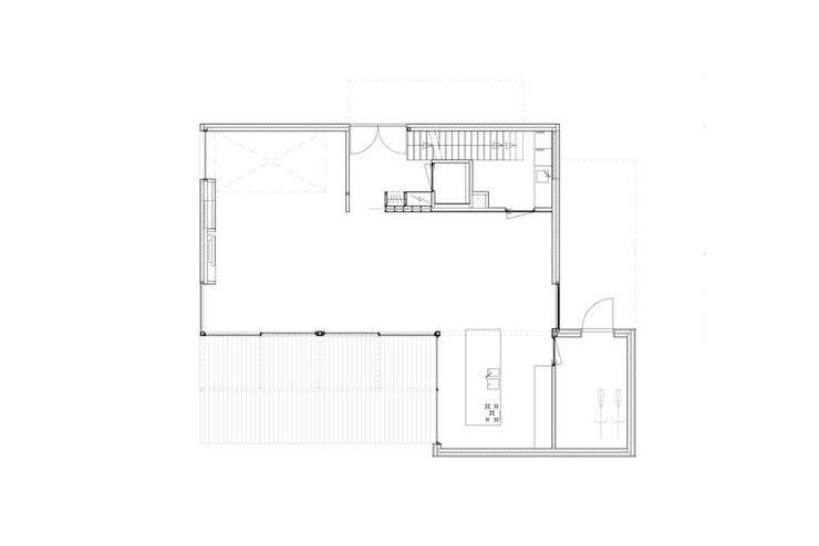 beganegrond:  Woonkamer door Studio Blanca, Modern