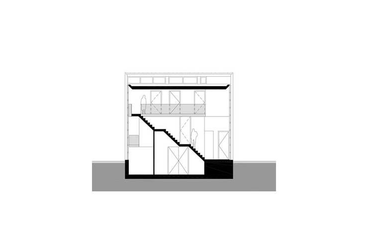 doorsnede:  Gang en hal door Studio Blanca, Modern