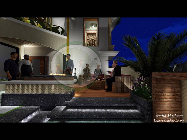 Terrace / Outdoor Sitting On Terrace Garden:  Garden by Studio Machaan