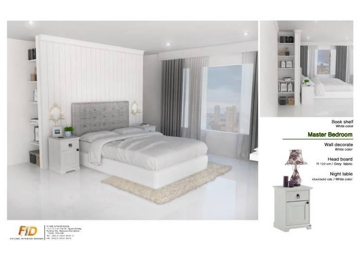 The Oleander Condo:  ห้องนอน by Future Interior Design Co.,Ltd.