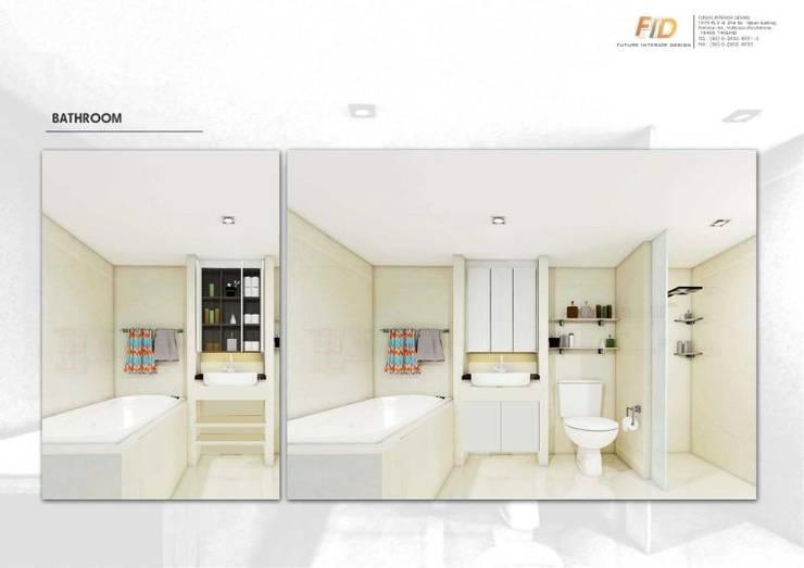 The Oleander Condo:  ห้องน้ำ by Future Interior Design Co.,Ltd.