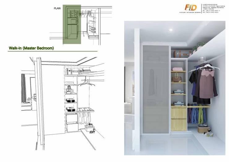 The Oleander Condo:  ห้องแต่งตัว by Future Interior Design Co.,Ltd.