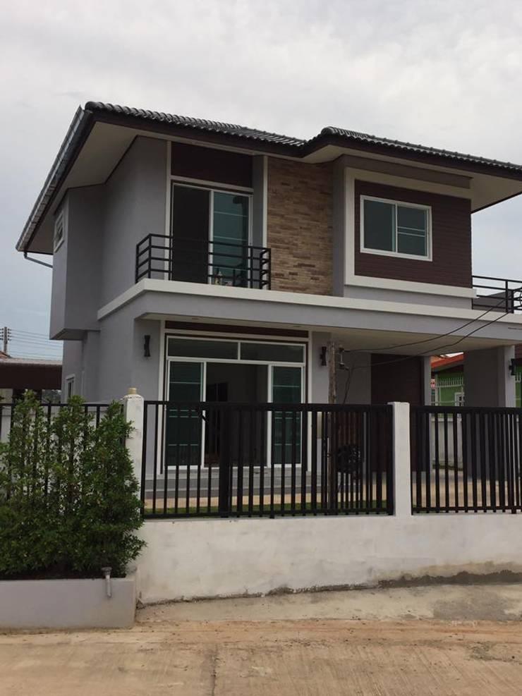บ้านเดี่ยว2ชั้นสร้างใหม่ 3ห้องนอน 3ห้องน้ำ1ห้องครัว1ห้องรับแขก จอดรถได้2คัน :   by Thaisamran
