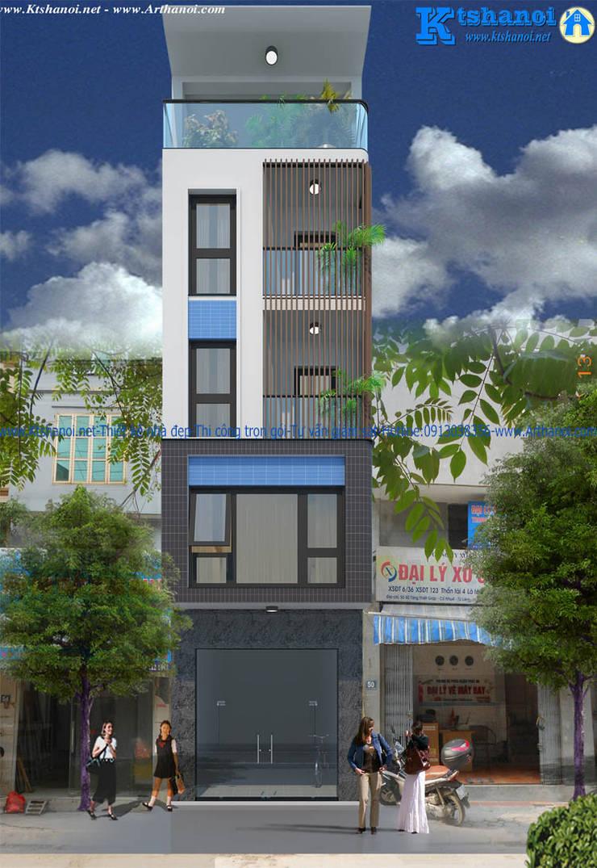 Mẫu thiết kế nhà phố 4mx16m đẹp kết hợp kinh doanh:   by Văn phòng kiến trúc Ktshanoi