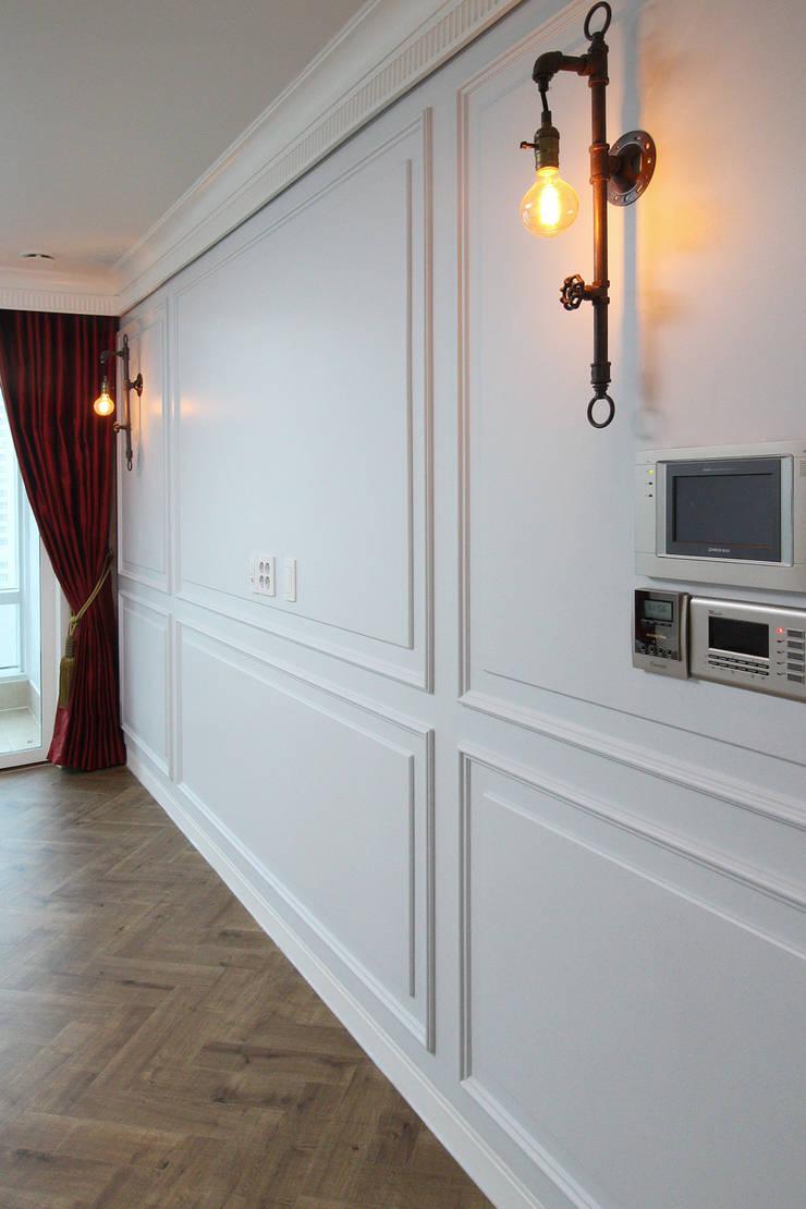 부산광역시 해운대구 우동 더샵 센텀스타 아파트 인테리어: 까사델오키드의  거실