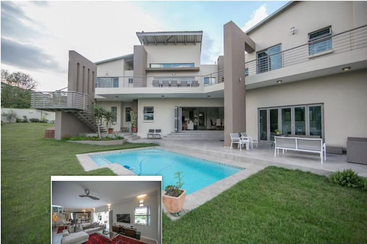 Private Residence, Helderfontein Estate, Fourways, South Africa:  Houses by Gelding Construction Company  (PTY) Ltd, Modern
