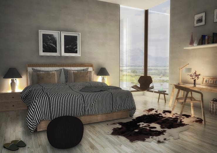 Le Recolte Retirement Village:  Bedroom by Modo